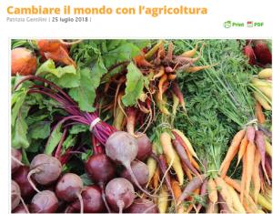 Articolo cambiare il mondo con l'agricoltura